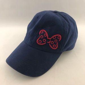 Disney Parks Woman's Minnie Mouse Bow Blue Cap Hat